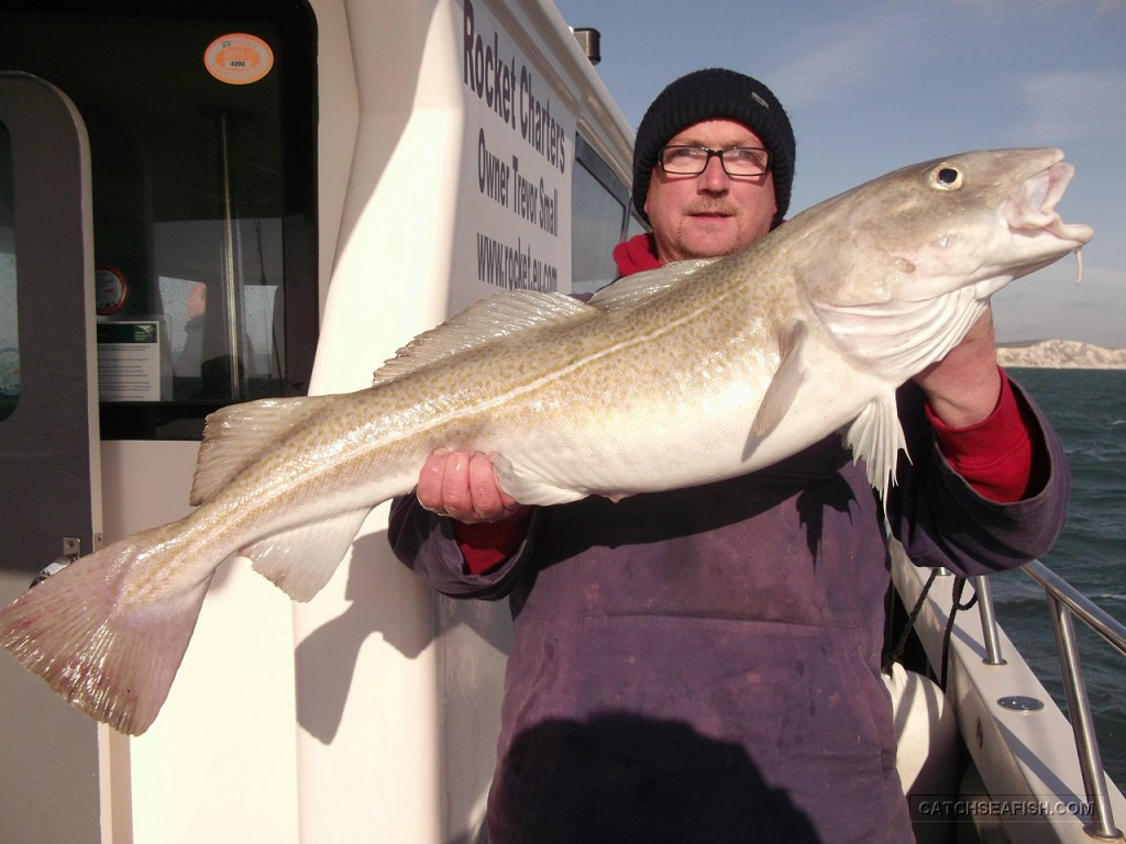Fishing for Cod on the Rocket out of Poole Dorset