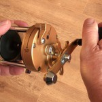 Vantage 880 gold multiplier reel large wind handle with plenty of grip