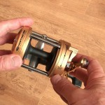 Vantage 880 gold multiplier reel easy to service including the level wind mechanism