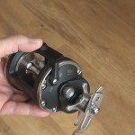 Vantage CA30L multiplier reel free running lever auto set to on when winding the handle