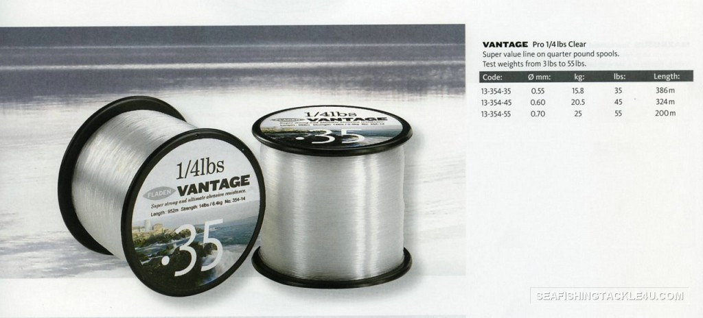 Vantage Mono Pro 1/43lb spools of fishing lines