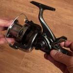 Freespool 80 fixed spool reel freespool lever auto reset on winding of the handle