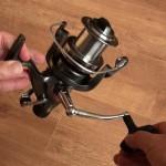 Freespool 80 fixed spool reel high capacity alloy spool