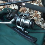 Maxximus uptider 10ft rod close up of the Freespool 80 reel on the uptider a great combination (reel not included in the sale)