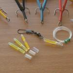 Lumi tube trace 45lb super strong ultra abrasive resistant mono and 1/0 interlock swivel plus 3 spare lumi tubes