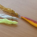 "Smooth fish pirk the red an yellow option with the choices of 6"" muppets"