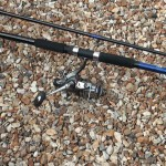 Powerstick beachcaster 12ft rod combined with the Freespool 80 (reel not included in the sale)