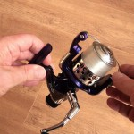 Tectonic 7600 fixed spool reel supplied with line on ready to fish