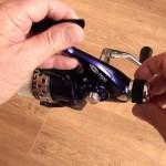 Tectonic 7600 fixed spool reel click stop micro adjustment drag control