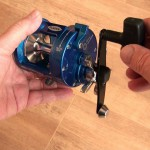 Vantage 300 multiplier reel large easy wind control handle