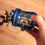 Vantage 300 multiplier reel level wind gives good lay of the line
