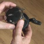 Warbird 2030 multiplier reel ratchet on off button