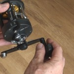 Warbird 2030 multiplier reel large handle for great grip when needed
