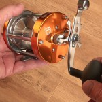 Warbird 3800 multipler reel overall view of the reel with bling finished in burnt orange