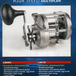 Sea fishing reels the Spyder Marine high speed multipliers