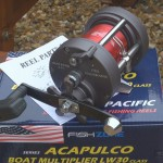 Acapulco marine multiplier with mono line on complete with parts list