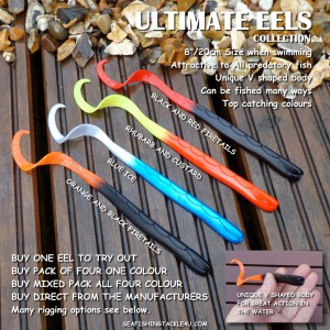 The Ultimate Eels collection of top catching sea fishing lure colours