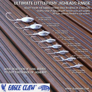 Jigheads for soft lures and natural baits