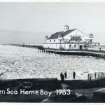 Frozen sea off Ramsgate Kent during the winter of 1962/63