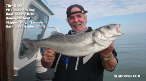 Bass fishing off Ramsgate Kent on the Skerry Belle