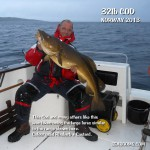 Fishing for large Cod with lures in Norway