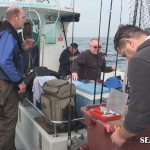 Anglers on Flamer IV Weymouth charter boat