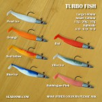 turbofish soft lures colour range