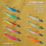 turbofish soft lures GITD/UV glow in the dark colours